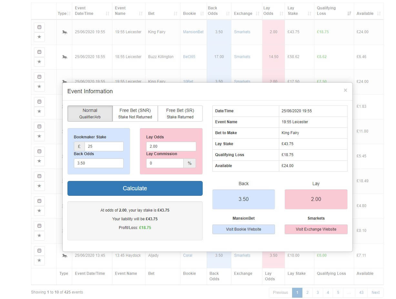 profit accumulator screenshot match catcher horse racing