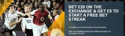 betfair exchange weekly free bet
