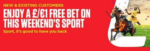 ladbroke £1 weekend free bet
