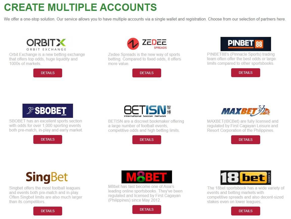 bet broker multiple bookies account