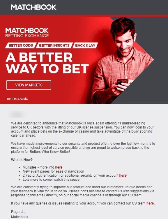 matchbook is back 13 aug 2020