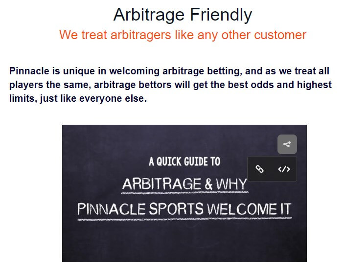 pinnacle arbitrage friendly page