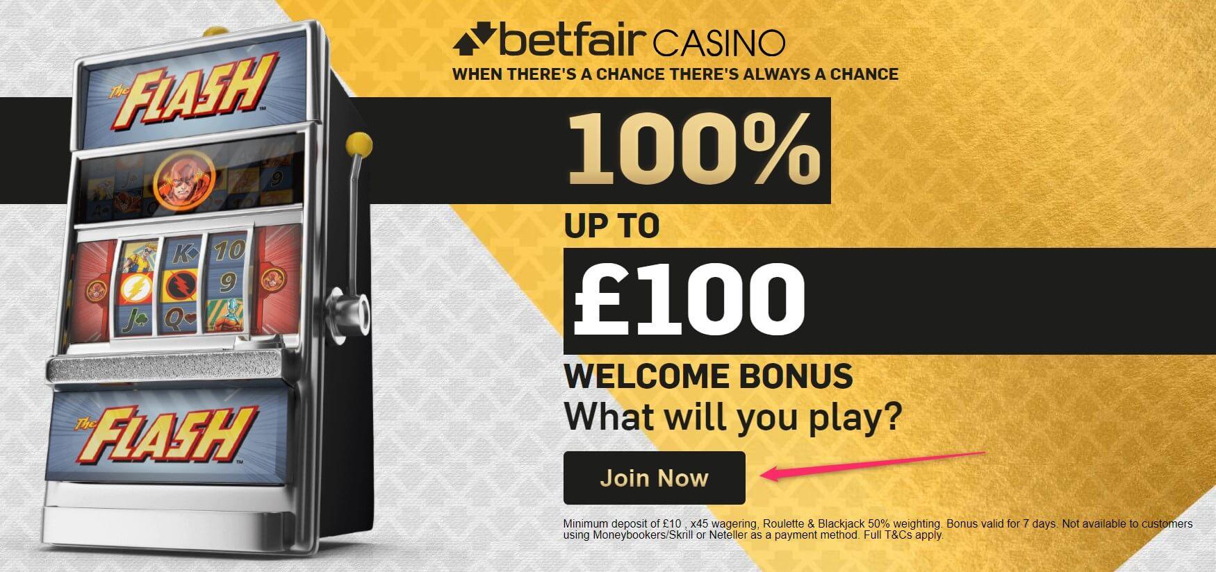 betfair casino deposit bonus
