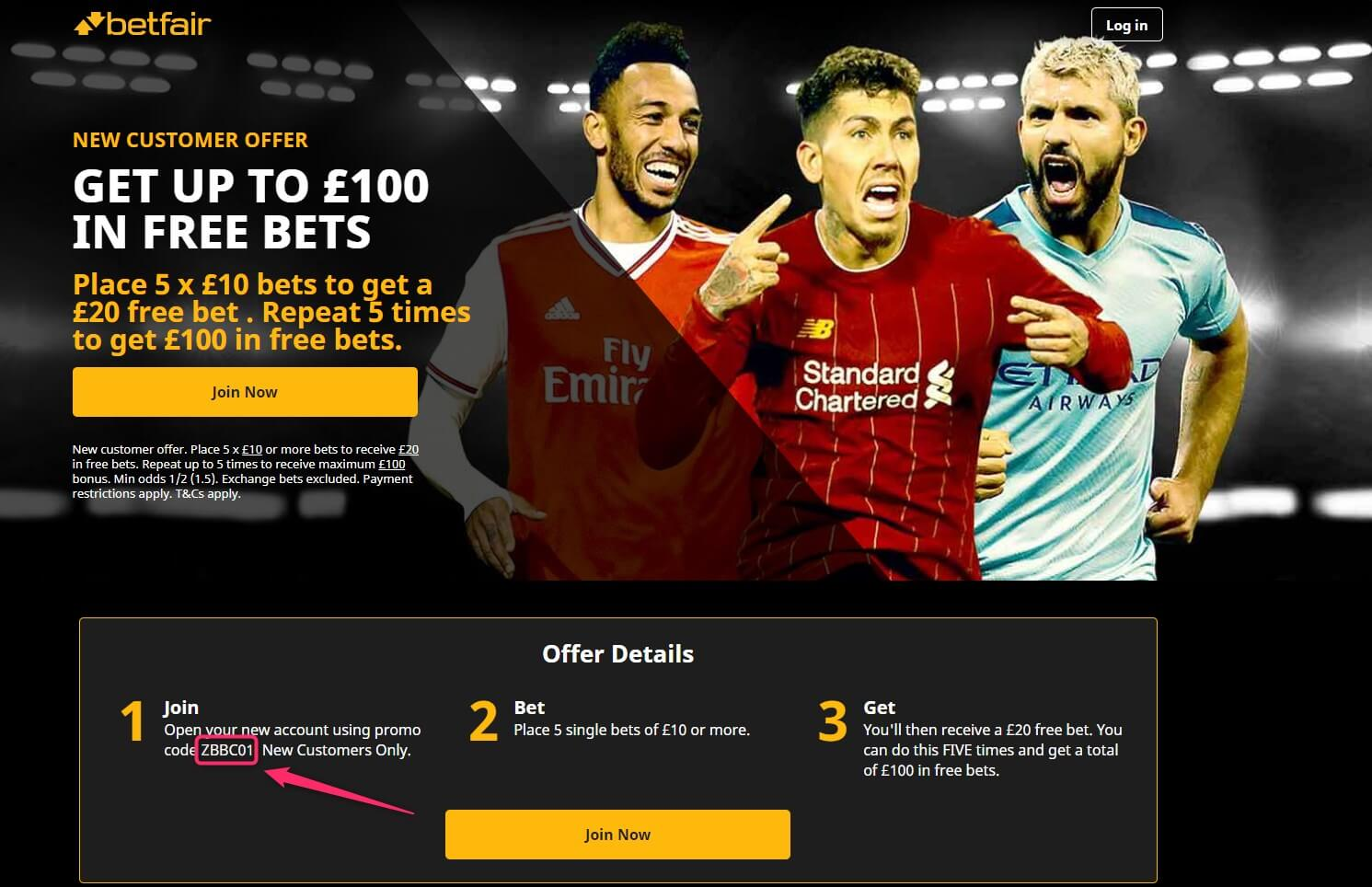 betfair sportsbook welcome offer promotion code