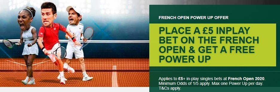 paddy power french open tennis offer