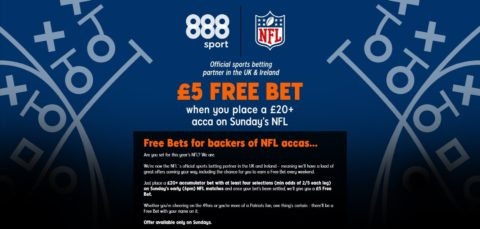 888sports nfl acca every sunday offer