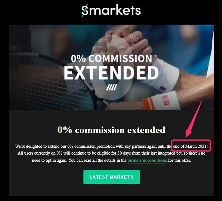 smarkets zero commission extended up to march 2021