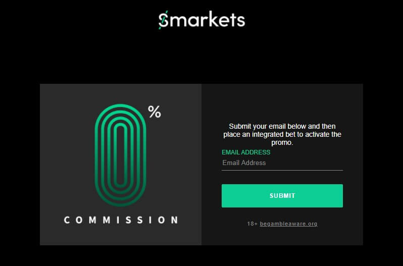 Smarkets zero commissions opt in