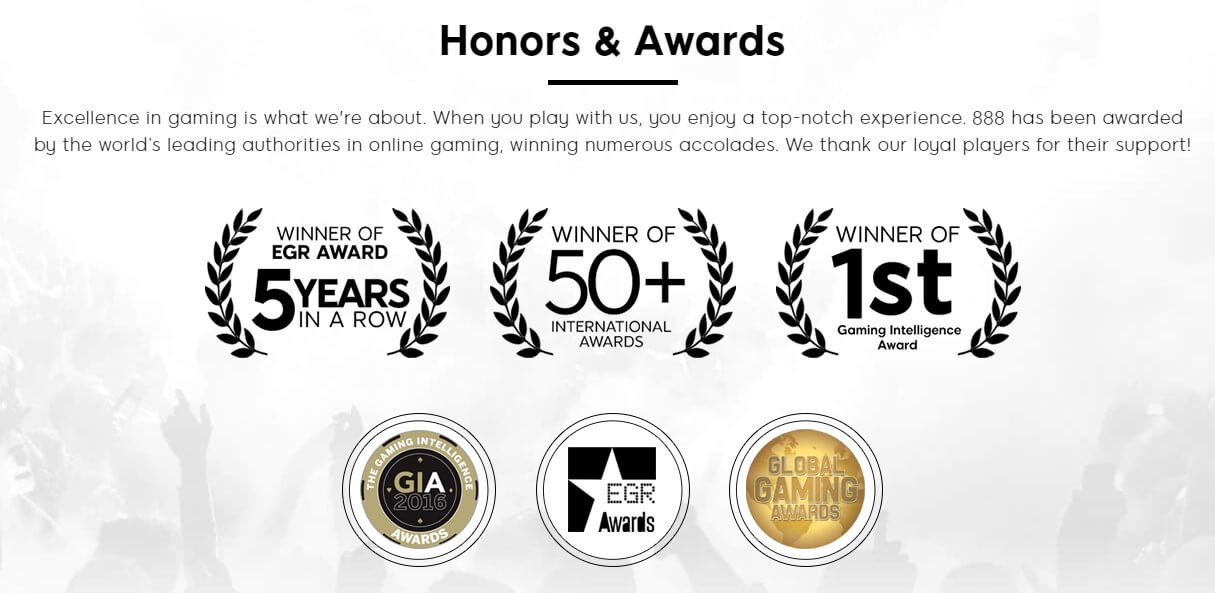 888 holdings awards received
