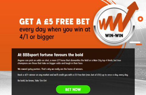 888 sports back a winner every day free bet