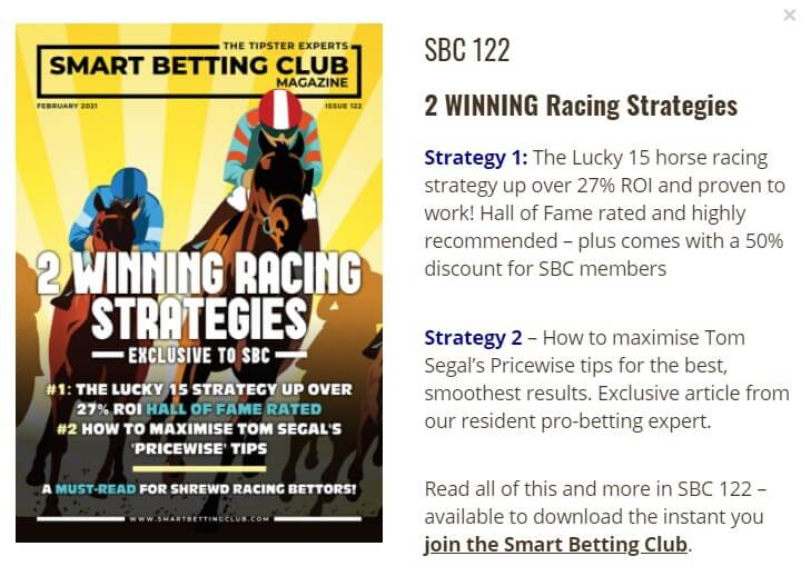 sbc magazine two racing strategies and tipsters