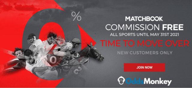 matchbook oddsmonkey zero commission may 2021