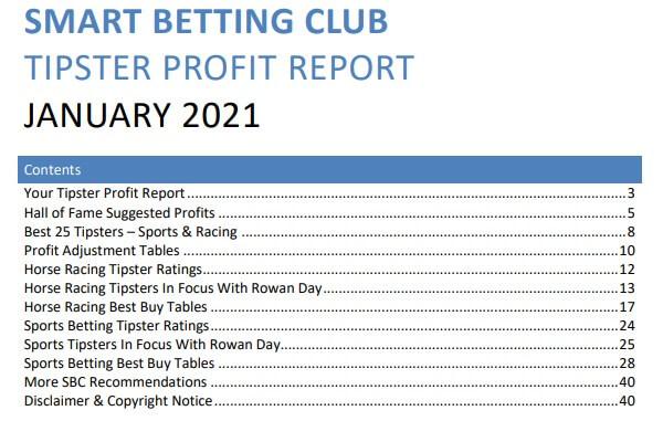 sbc tipster profit report jan 2021
