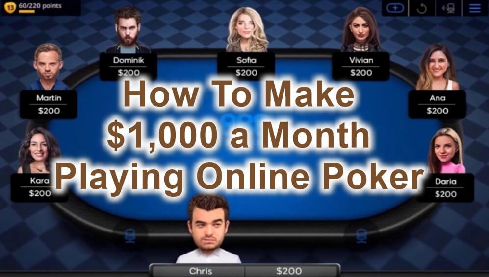 make $1000 a month playing poker feature image